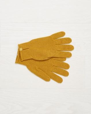 Cashmere button gloves - Ochre - One Size - 2498