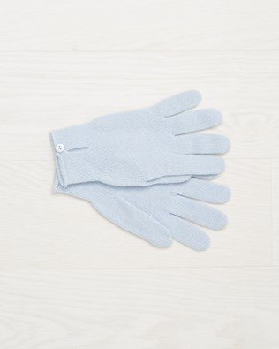 Cashmere button gloves - Sky Blue - One Size - 2501
