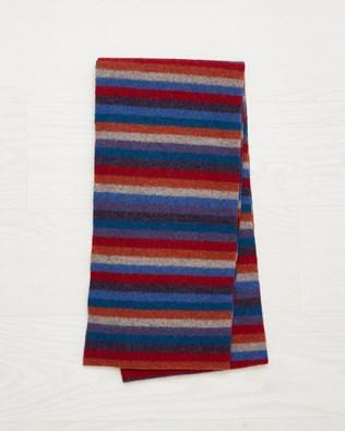Ladies Stripey Wool,Scarf - Multi - One Size - 2504