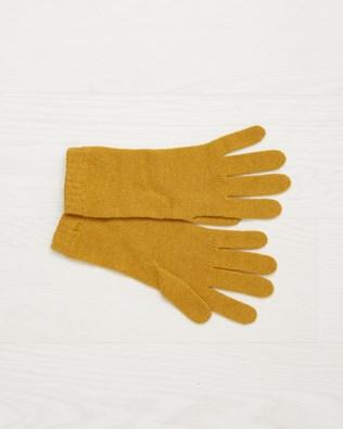 Cashmere Gloves - Mustard - One Size - 2508
