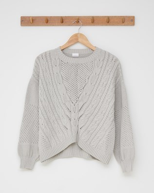 V Yoke Cable Jumper - Fossil - Size Small - 2575