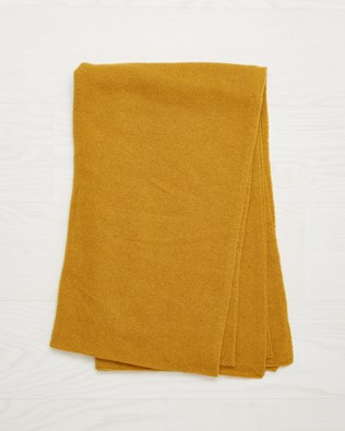 Cashmere Stole - Mustard - One Size - 2531