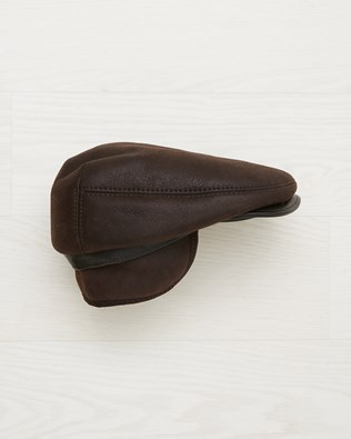 Men's Flat Cap - Dark Brown - One Size - 2538