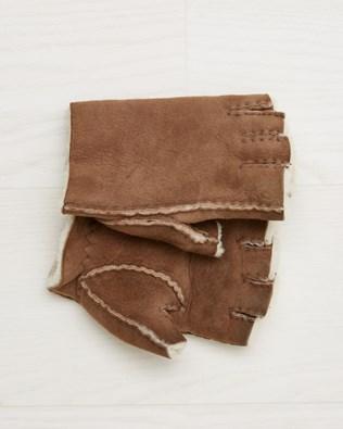 Ladies Fingerless Gloves - Walnut - Size Extra Small -  2554