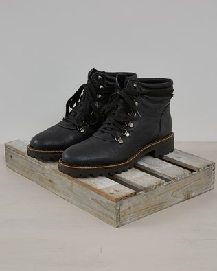 Hiker Boot - Black Leather - Size 39 - 2573