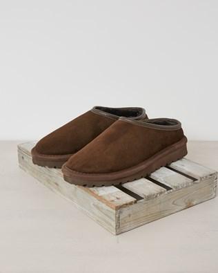 Mens celt clogs (with back) - Size 9 - Mocca - 2630