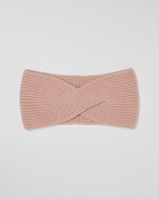 Cashmere Ribbed Headband - Pink - One Size - 2613