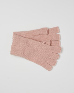 Cashmere Fingerless Gloves - Pink - One Size - 2615