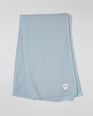 Cashmere Stole - Light Blue - One Size - 2617