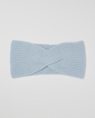 Cashmere Ribbed Headband - Light Blue - One Size - 2620