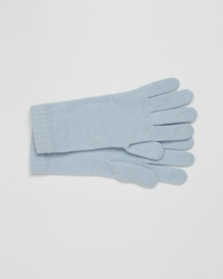 Cashmere Gloves - Light Blue - One Size - 2621