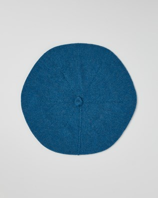 Cashmere Beret - Cobalt Blue - One Size - 2626