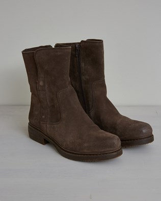 Essential Leather Ankle Boot - Size 36 - Chocolate - 2635