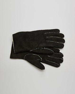 Sheepskin Gloves - Size Small - Black - 2642