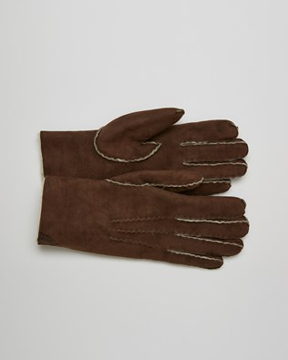 Sheepskin Gloves - Size Medium - Mocca - 2644
