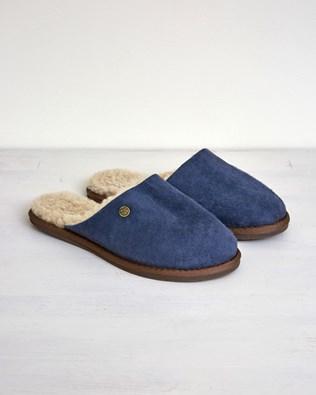 Ladies Sheepskin Mules - Size 5 - Blue Iris - 2645