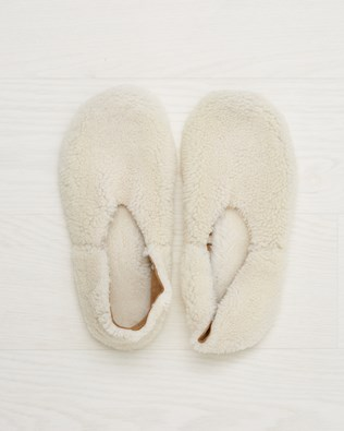 Cocoon Slipper - Ivory - Size 5 - 2546