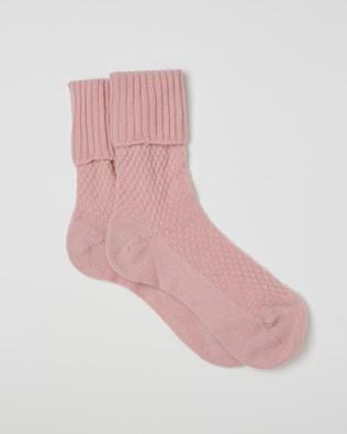 Ladies Cashmere Mix Socks - Peony - Size Medium - 2507