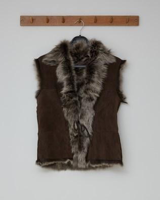 REVERSIBLE TOSCANA GILET - MOCCA SNOW TIP - SIZE 10 - 2561