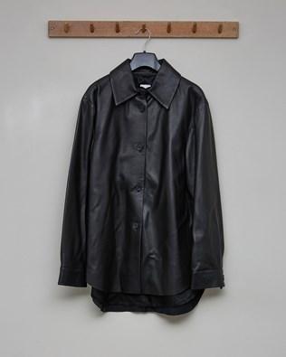 Leather Overshirt - Black - Size 10 - 2578
