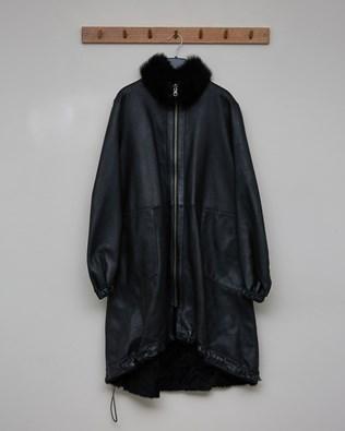 Reversible Draw String Hem Coat - Black - Size 10 - 2581