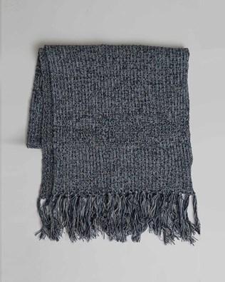 Yarn Twist Scarf - Blue Marl - One Size - 2772