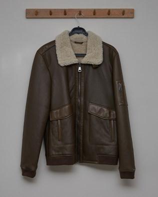 Men's Sheepskin Maverick Jacket - Tanners Brown - Size Medium - 2760