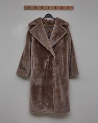 Sheepskin Long Overcoat - Mink - Size 10 - 2761