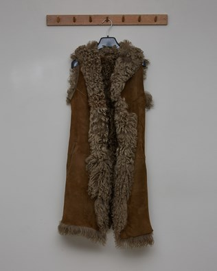 Reversible Curly Gilet - Olive - Size 8 - 2785
