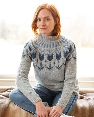 フェアアイルファンネルネックセーター