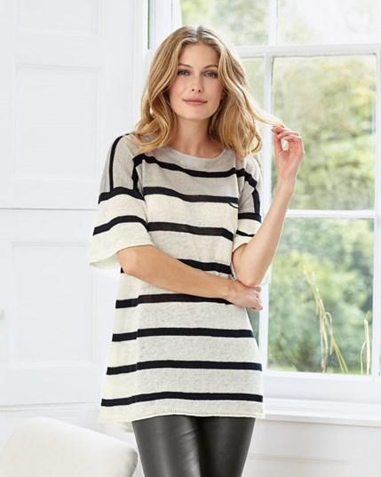 Stripe Linen Knit