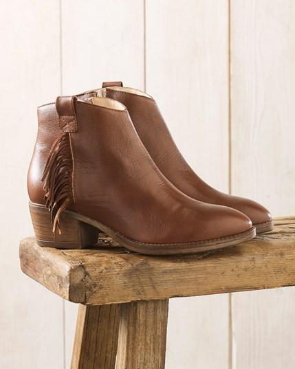 Fringed Cuban Heel Boots