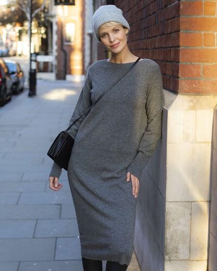 7590 Supersoft Midi Dress Derby Grey (Was Charcoal)