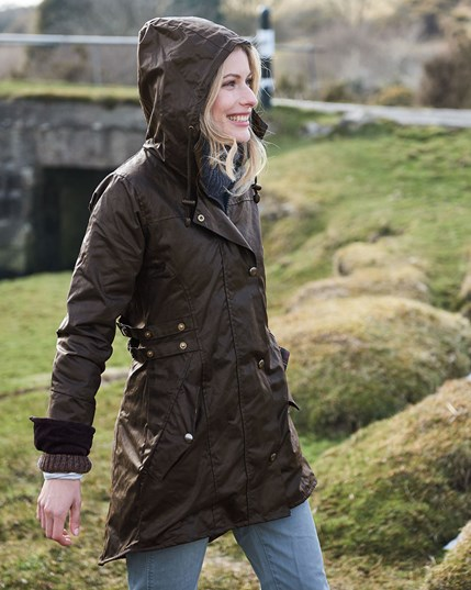 7261 Wax Riding Coat - Dark Brown