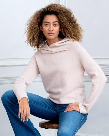 Collared Slouch - Peony - 6284