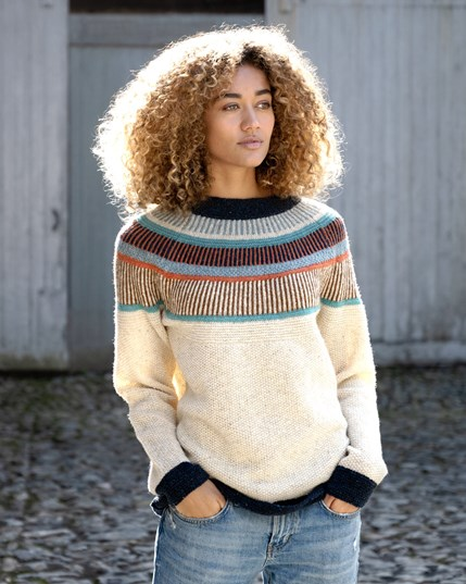 7675 - Statement Donegal Jumper - Oatmeal