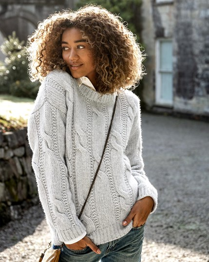 Luxe Cable Jumper - Fossil - 7808