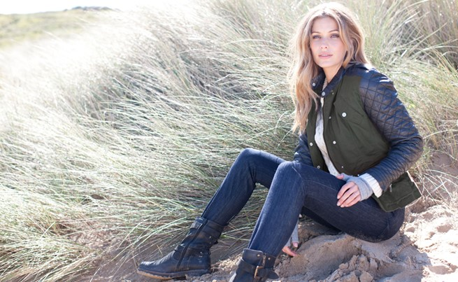 canvas and leather biker £150, cashmere wristwarmers £32, leather biker boots £165 celtic and co.jpg