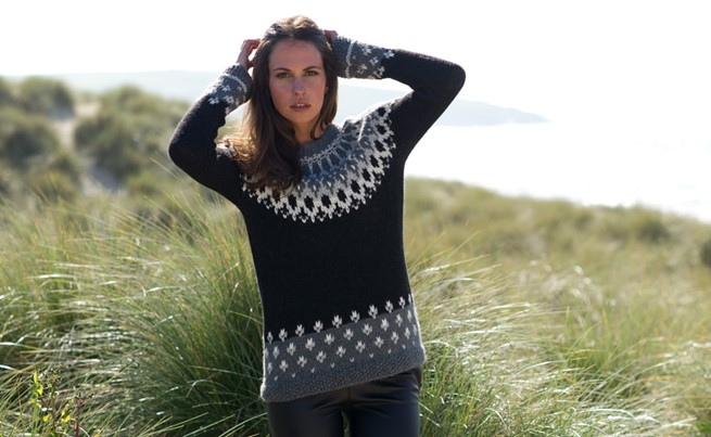 fair isle jumper £185, stretch leather leggings £395, leather biker boots £165 celtic and co.jpg