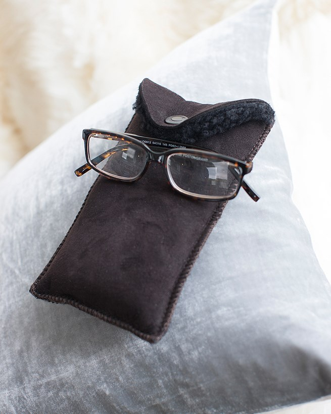 Sheepskin Glasses Case