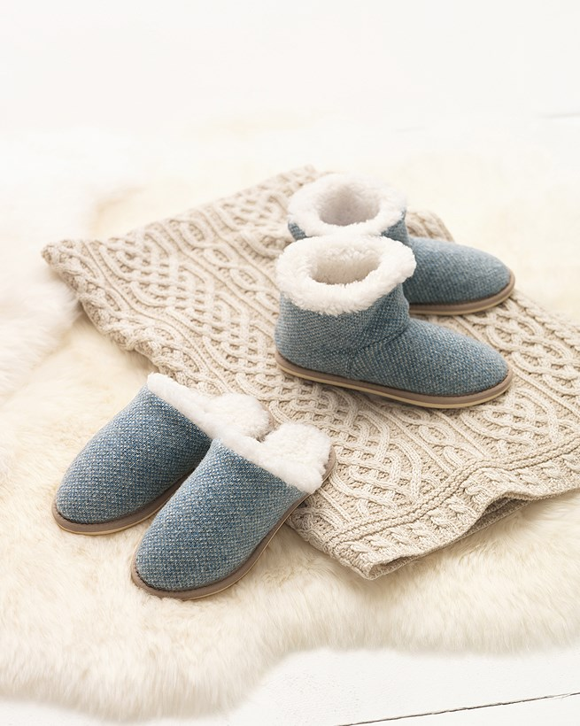 Knitted Shortie Slippers