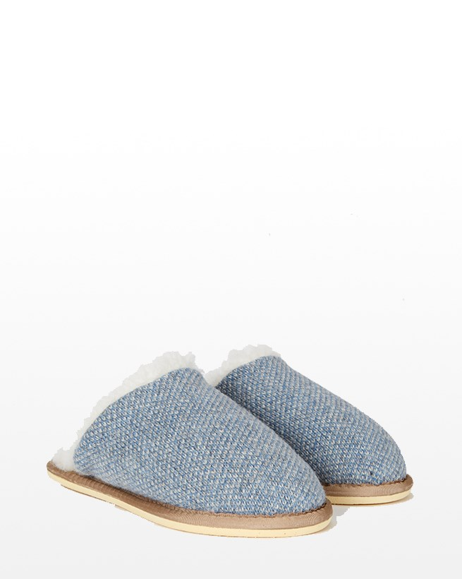 Knitted Mules - Size 13 - Blue Marl