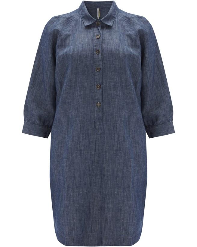 Chambray Shirt Dress - Size 14 - 920