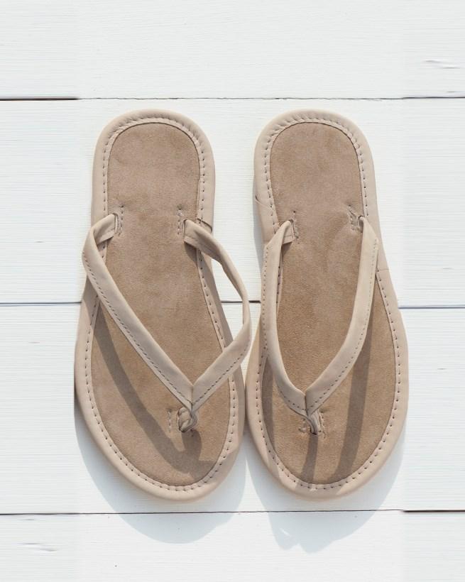 Nubuck & Suede Flip Flops