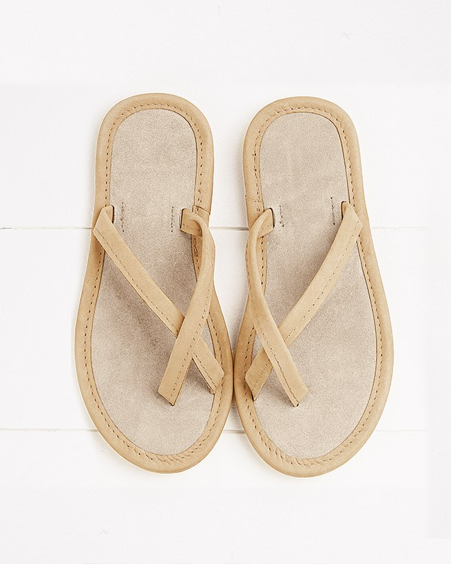 Nubuck and Suede Crossover Sandals