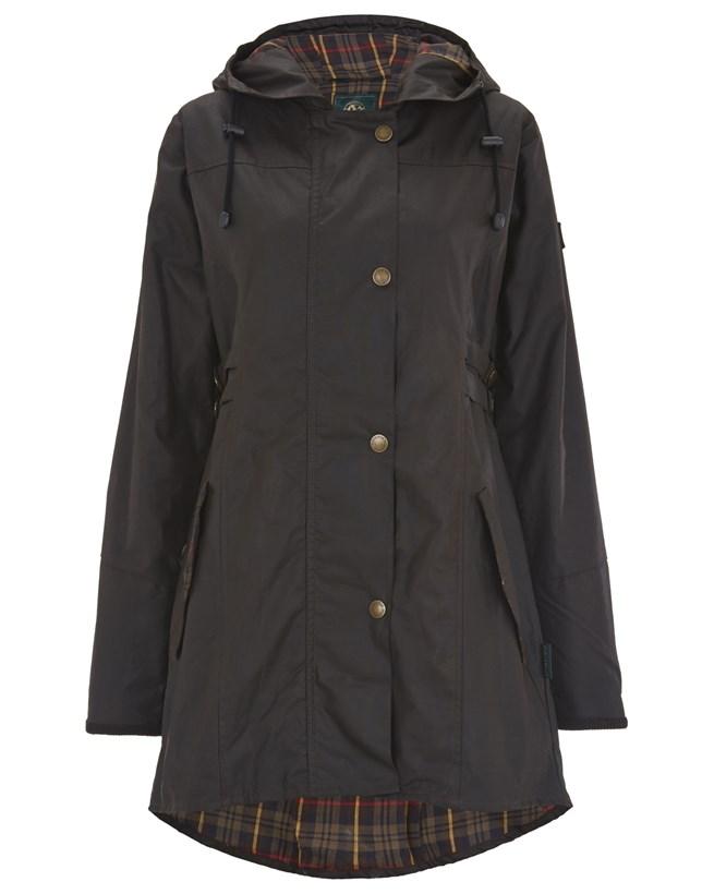 Wax Riding Coat - Size 12 - Dark Brown 772