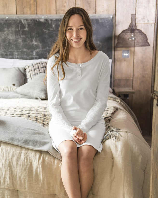 Organic Cotton Long Sleeve Nightie