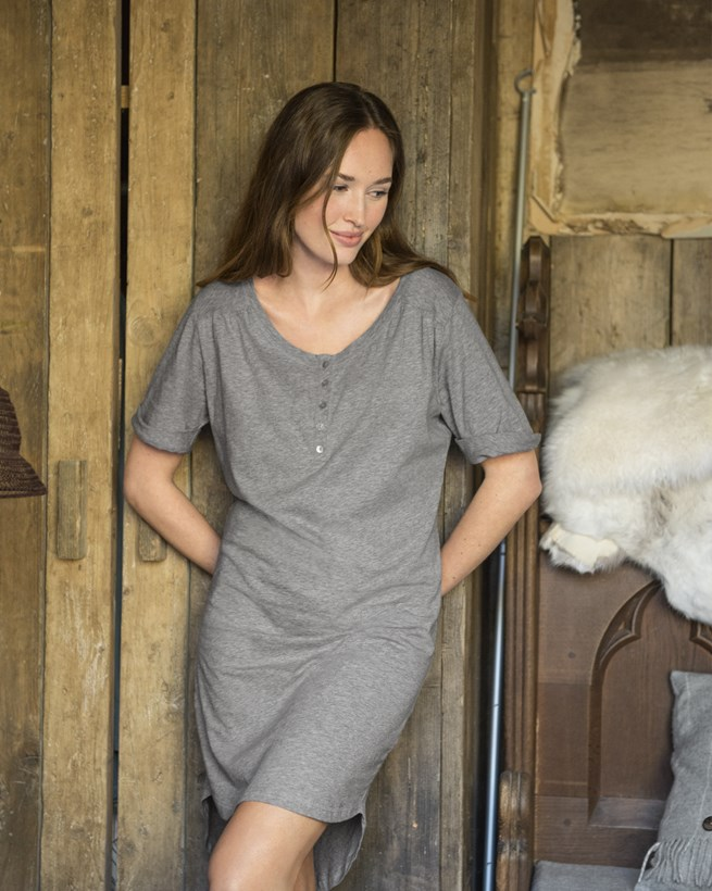 Organic Cotton Short Sleeve Nightdress