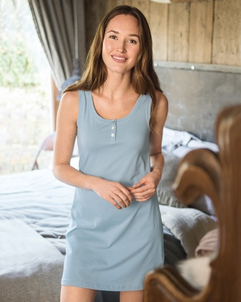 Organic Cotton Sleeveless Nightdress