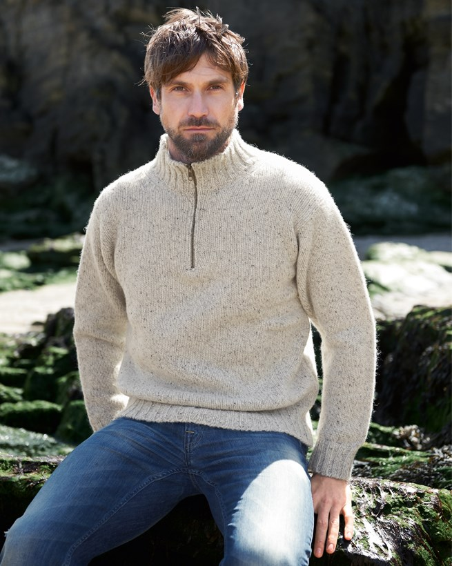 Men's Zip Neck Sweater
